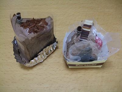 チョコシフォンケーキとガトーショコラ